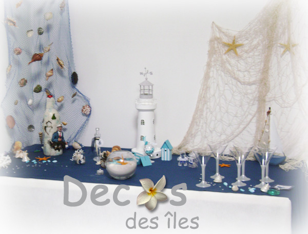 D corations marines phare d coratif bois marin for Theme marin decoration